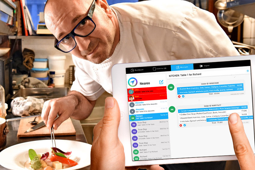 Restaurant Instant Ordering & Dispatching to the Kitchen or Bar
